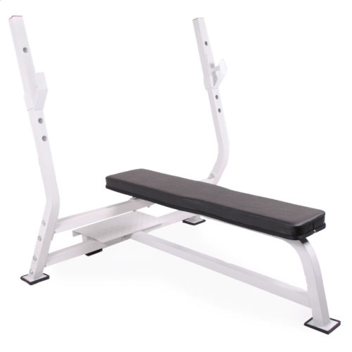Heavy Duty Olympic Commercial Barbell Weight Lifting Chest Press Bench Gym Flat Ebay