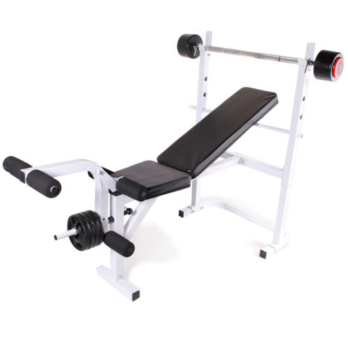 Adjustable Incline Decline Flat Home Gym Workout Weight Bench Leg Curl Extension Ebay