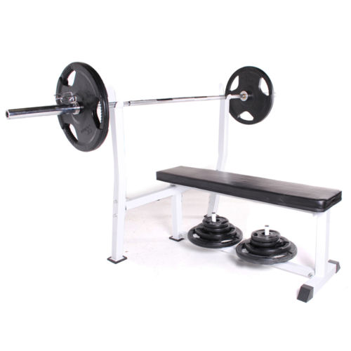 Is Flat Bench Press Good Or Not: COMMERCIAL DUTY OLYMPIC FLAT BARBELL WEIGHT LIFTING CHEST